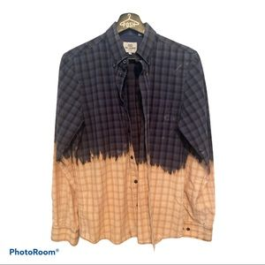 COPY - Upcycled Ben Sherman dipped dye button up